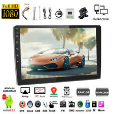 10''2 Din GPS Android Car Radio Airplay+Camera Wifi iOS Mirror Link Touch FM BT