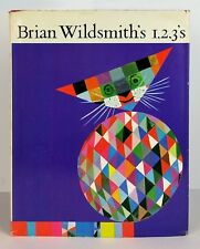Brian Wildsmith's 1,2,3's First Edition HcDj RARE 1965 Vintage Graphic Design