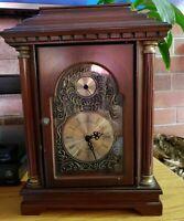 VINTAGE 2006 Bombay Company Quartz Mantle Clock With Hidden Compartment Safe