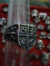 ANELLO croce malta acciaio misura 23 trendy ring skull cavalieri templari
