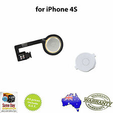 for iPhone 4S - Home Button Flex Cable Ribbon Assembly WHITE - FREE SHIPPING