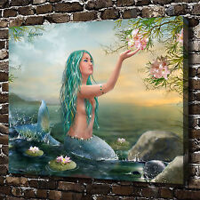 Lotus The little mermaid HD Canvas Print Home Decor Paintings Wall Art Pictures