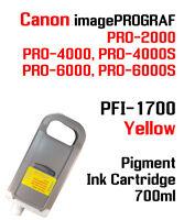 PFI-1700 Yellow Canon imagePROGRAF PRO compatible Ink cartridge 700ml