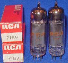 NOS / NIB Matched Pair RCA 7189 Smoked Glass Power Tubes Same April 1969 Date