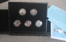 More details for 2021 alice's adventures in wonderland silver proof 50p coin set
