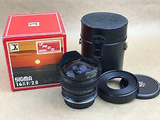 Sigma 16mm f/2.8 Fisheye Pentax M42 Screw Mount Manual Lens w/ Canon EF Adapter