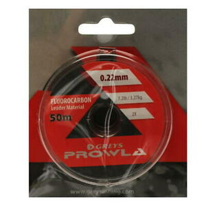 50m Greys Prowla Fluorocarbon Leader Line 15.5lb Pike Trout Fishing Rig RRP £15!