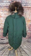 NWOT Golden Goose Canada Green GOOSE DOWN Puffer Parka Winter fur Hood Coat Sz M
