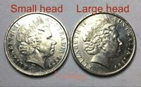 🇦🇺2x 1999 Australian 10 Cent Coins Large Head Variety Very Scarce📮FREE Post