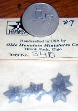 Dollhouse Miniature Building Star, Largel 1:12 #S410 Antique Tin Finish Hardware