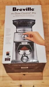 New Breville BCG600SIL The Dose Control Pro Coffee Grinder. Stainless impeller.