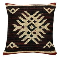 4 set Vintage Kilim Pillow Case 18x18 Hand Woven Jute Rug Cushion Covers C-9022