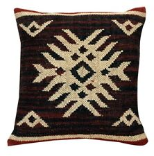 Indian Hand Loom Kilim Cushion Cover 18x18 Decorative Square Pillow Cases