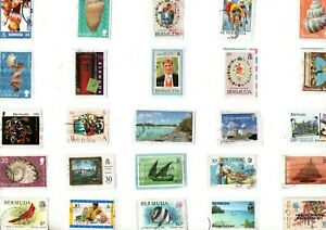 LOVELY MIX OF DIFFERENT KILOWARE STAMPS FROM BERMUDA