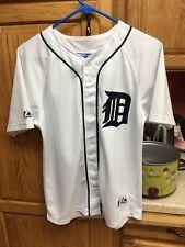 Magglio Ordonez Detroit Tigers #30 Majestic MLB Sewn Baseball Jersey Youth Sz L