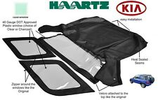 KIA SPORTAGE 1996 - 2002 Convertible Soft Top Replacement (Clear Window)