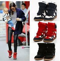 NEW YEU EARE Womens Hot Strap High-TOP Sneakers Shoes/Ladys Ankle Wedge Boots