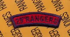 US Army 29th RANGERS Infantry Division tab arc patch reversed