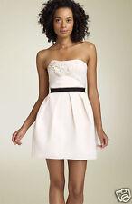 BCBG MAXAZRIA Strapless Floral Appliqué Dress( Size 10)
