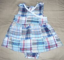 Faded Glory infant Girls plaid DRESS Size-newborn NWT