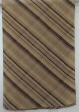 TERRIART Khaki, Brown Diagonal Stripes Crepe 40x13 Long Scarf-Vintage