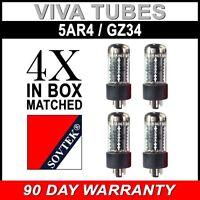 Brand New In Box Matched Quad (4) Sovtek 5AR4 / GZ34 Vacuum Tubes - Auth Dealer
