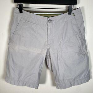 REI Womens Hiking Shorts Size 6 Light Grey Activewear 29 Waist FAST SHIPPING!