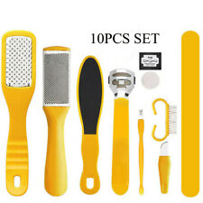 10Pcs/Set Pedicure Kit Rasp Foot Grind File Callus Remover Scraper Nail Care Us