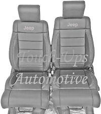 2008 Jeep Wrangler Jk 2 Door Katzkin Leather Seat Covers Kit Gray Silver Logo