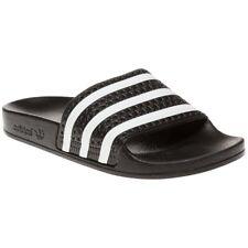 adidas Adilette Bath Sandals Black White 280647 Slip-ons Sandal Shoes UK 8