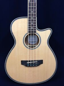 Haze 3/4 Size Acoustic Bass Guitar,4-String,Nat w/EQ+Free Gig Bag |FB-711BCEQ/N|