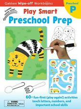 Play Smart Preschool Prep: Wipe-off Workbook with Erasable Marker (17) - NEW