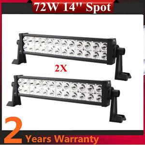 14inch 72W LED Work Light Bar Spot Beam Slim for Jeep F250 Tundra ATV US Stock