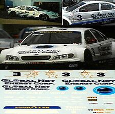 Opel Omega V8 Star Global Net 2001 #3 K. Thiim 1:43 Decal Abziehbild