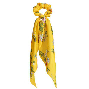 Yellow Women's Accessories Hair Ties Scrunchie Elastic Rope Bow Scarf Hair Band