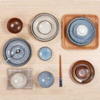Japanese Traditional Style Dinner Plates Porcelain Dishes Saucer Ceramic Plate