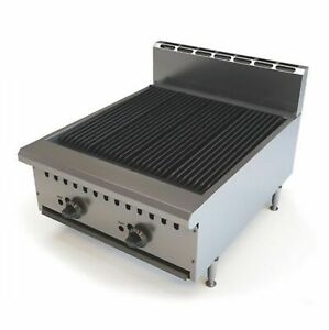 Commercial Gas Char Broiler 2 Burner Chargrill Natural Gas or LPG BBQ Steak Meat