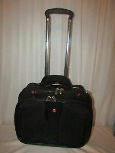 Wenger Swiss Army Rolling Travel Carry On Laptop Bag Briefcase Luggage Wheels 17