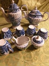 Servizio caffe e the  PORCELLANA INGLESE English Country Scenes  DECORO BLU.