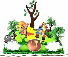 Winnie the Pooh Deluxe Birthday Cake Topper Set with Tigger, Eeyore, Owl, and