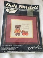 Vintage Dale Burdett Pitiful Pals Cross Stitch Lovable Pals With Puppies Blessin
