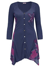 Joe Browns INDIGO Perfect Patchwork Longsleeved Tunic Top Sizes 12 14 and 30