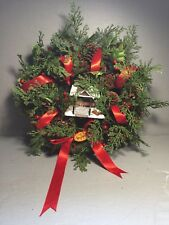 """Dept 56 Terry Redlin """"Evening with Friends"""" Christmas Weath 2008"""