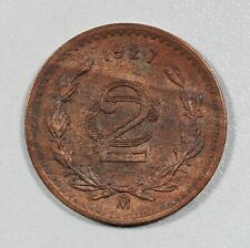 1927 Mexico 2 Centavos Km-419 RED-BROWN Uncirculated