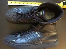 Adidas Pro Model All Black Leather high top Sz11 '70S BASKETBALL SHOE CLASSIC