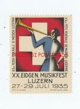 LUZERN SWITZERLAND 20th MUSIC FESTIVAL 1935 Poster Stamp