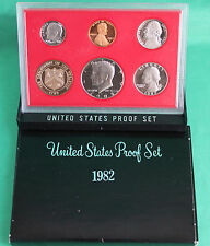 1982 United States Mint Annual 6 Coin Proof Set Original and as issued