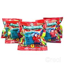 New 5 PACKS Zomlings In The Town Series 1 Blind Bag Figures & Tower Official