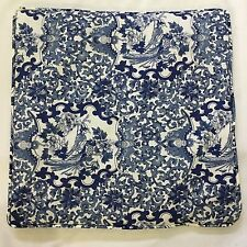 2 RALPH LAUREN Porcelain Tamarind Blue Toile Decor PILLOW Covers  18 x18""