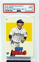 2019 Topps 582 Montgomery Club 582 Sticker Set 2 LUIS URIAS RC Card PSA 9 MINT